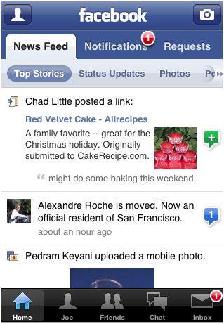 facebook 2.1 iphone