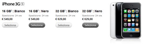 iphone 3gs prezzi